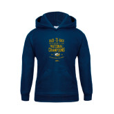 Youth Navy Fleece Hoodie-Back-to-Back Division 1AA National Champions Mens Rugby