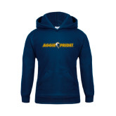 Youth Navy Fleece Hood-Aggie Pride