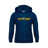 Youth Navy Fleece Hood-Aggie Pride w/ Tagline