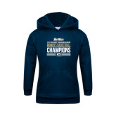 Youth Navy Fleece Hood-Big West Conference 2017 Regular Season Womens Basketball Champions Stacked