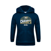 Youth Navy Fleece Hood-Big West Conference 2017 Regular Season Womens Basketball Champs