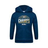 Youth Navy Fleece Hood-Big West Mens Basketball Tournament Champions