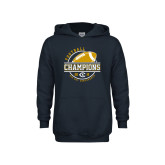 Youth Navy Fleece Hoodie-2018 Big Sky Conference Champions