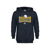 Youth Navy Fleece Hoodie-2018 Football Conference Champions