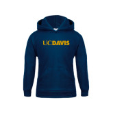 Youth Navy Fleece Hoodie-UC DAVIS