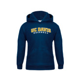 Youth Navy Fleece Hood-Baseball