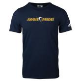 Adidas Navy Logo T Shirt-Aggie Pride