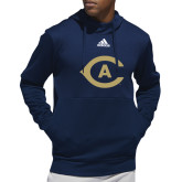 Adidas Navy Team Issue Hoodie-Secondary Athletics Mark