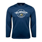Performance Navy Longsleeve Shirt-Basketball Arched