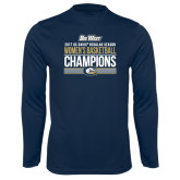 Syntrel Performance Navy Longsleeve Shirt-Big West Conference 2017 Regular Season Womens Basketball Champions Stacked