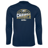Syntrel Performance Navy Longsleeve Shirt-Big West Conference 2017 Regular Season Womens Basketball Champs
