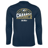 Syntrel Performance Navy Longsleeve Shirt-Big West Mens Basketball Tournament Champions