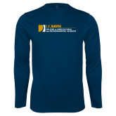 Performance Navy Longsleeve Shirt-College of Agricultural and Environmental Sciences