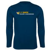 Performance Navy Longsleeve Shirt-College of Engineering