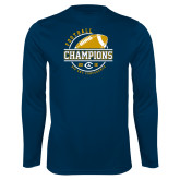 Performance Navy Longsleeve Shirt-2018 Big Sky Conference Champions