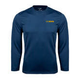 Performance Navy Longsleeve Shirt-UC DAVIS