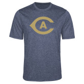 Performance Navy Heather Contender Tee-Secondary Athletics Mark