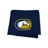 Navy Sweatshirt Blanket-Official Logo