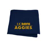 Navy Sweatshirt Blanket-UC DAVIS Aggies