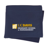 Navy Sweatshirt Blanket-Graduate School of Management Flat