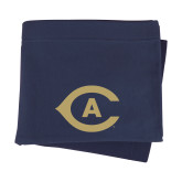 Navy Sweatshirt Blanket-Secondary Athletics Mark