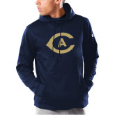 Under Armour Navy Armour Fleece Hoodie-Secondary Athletics Mark