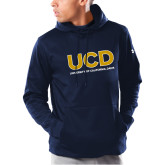 Under Armour Navy Armour Fleece Hoodie-UCD Mark with School Name