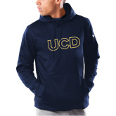 Under Armour Navy Armour Fleece Hoodie-UCD Mark