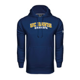 Under Armour Navy Performance Sweats Team Hoodie-Grandpa