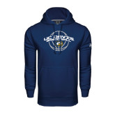Under Armour Navy Performance Sweats Team Hoodie-Basketball Arched