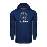 Under Armour Navy Performance Sweats Team Hoodie-Football Vertical