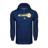 Under Armour Navy Performance Sweats Team Hoodie-Soccerball with Flying Ball