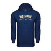 Under Armour Navy Performance Sweats Team Hoodie-Baseball Crossed Bats