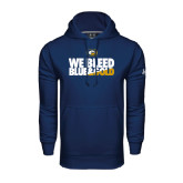 Under Armour Navy Performance Sweats Team Hoodie-We Bleed