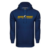 Under Armour Navy Performance Sweats Team Hoodie-Aggie Pride w/ Tagline