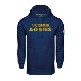 Under Armour Navy Performance Sweats Team Hoodie-UC DAVIS Aggies