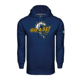 Under Armour Navy Performance Sweats Team Hoodie-Go Ags Logo