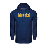 Under Armour Navy Performance Sweats Team Hoodie-Arched UC Davis Aggies