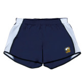 Ladies Navy/White Team Short-Primary Mark
