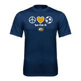 Performance Navy Tee-Soccerball Just Kick It