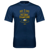Syntrel Performance Navy Tee-Back-to-Back Division 1AA National Champions Mens Rugby