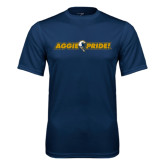 Performance Navy Tee-Aggie Pride