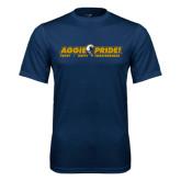 Performance Navy Tee-Aggie Pride w/ Tagline