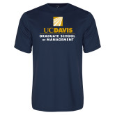 Performance Navy Tee-Graduate School of Management Stacked