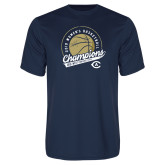 Performance Navy Tee-2019 Womens Basketball Big West Champions