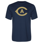 Performance Navy Tee-Secondary Athletics Mark