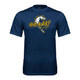 Performance Navy Tee-Go Ags Logo