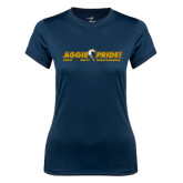 Ladies Syntrel Performance Navy Tee-Aggie Pride w/ Tagline