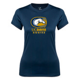 Ladies Syntrel Performance Navy Tee-Primary Mark