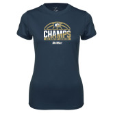 Ladies Syntrel Performance Navy Tee-Big West Conference 2017 Regular Season Womens Basketball Champs